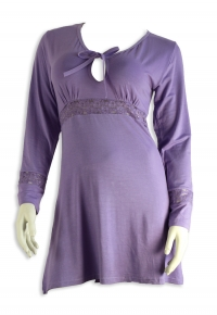 long sleeves Cotton nightdress