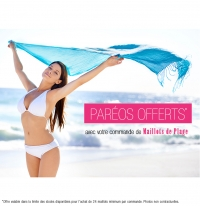 FREE Pareos with any pack of 24 swimsuit!