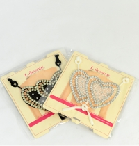 removable straps - strass and heart