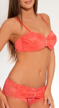 ABCD cup push up bra and boxer shorts set