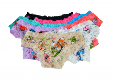 embroidered panties