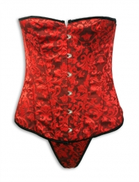 red satin Bustier