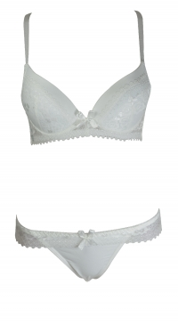 B-C cup bra set with panties