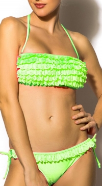2-piece Rustled Swimsuit