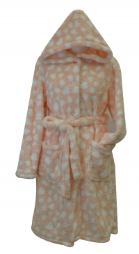 fleece bathrobe with hat