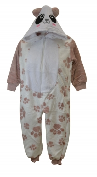 fleece pyjama junior with hat and pockets