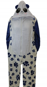 cow pyjama with hat and pockets