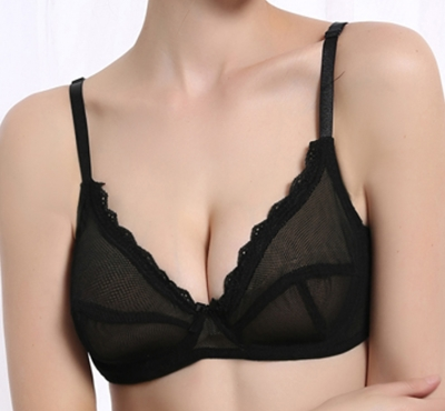 B to E cup bra in black