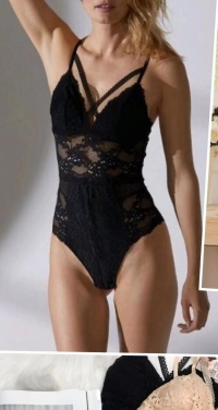 lace bodysuit with removable foam