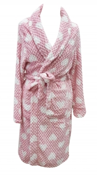 fleece pink bathrobe
