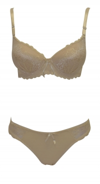 B cup bra set with string