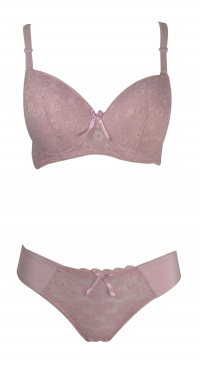 D cup bra set with panty