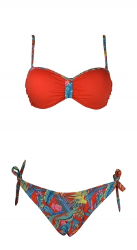 tropical flowers bikini