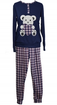 S-L cotton fleece pyjama