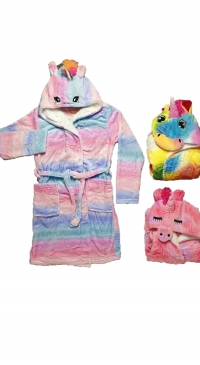 unicorn fleece bathrobe