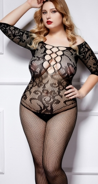 Queen size fishnet onsie