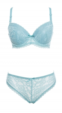 Blue bra set