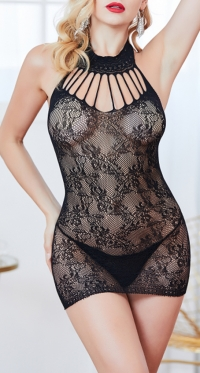 Plus Size Sexy Fishnet Dress