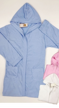 Women's cotton bathrobe
