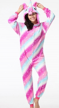 Women's unicorn fleece combi pajamas
